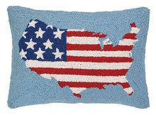 """USA FLAG HOOK PILLOW 14X20"""" #StatementMade #countrystyle #americana"""