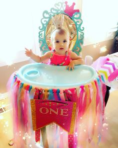 Highchair throne for one year old princess!