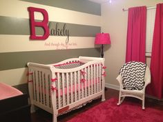 Custom crib set includes crib skirt and bumper with piping or ruffles. $235.00, via Etsy.