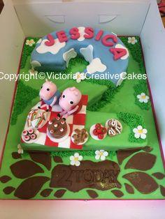 Peppa pig birthday number cake