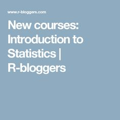 This week we are launching four new courses as part of our Introduction to Statistics curriculum. We are taking a modern approach to teaching statistics with the use of simulations and randomization rather than a more traditional theoretical one. Data Science, Statistics, Curriculum, Teaching, News, Resume, Learning, Big Data, Education