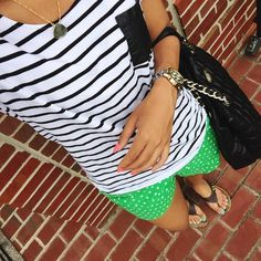 What Nicole Wore: Stripes & Dots