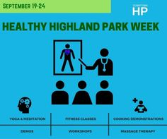 Healthy Highland Park Week: September 19th – 24th. 💙Celebrating all things healthy, a series of special events are planned throughout the week in Downtown HP. Health and wellness businesses will showcase their services through #free demos, workshops, classes, seminars and more. Go to downtownhp.com/events for more details or to RSVP for a free class!