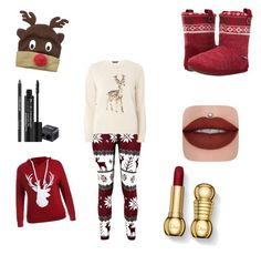 """Reindeer"" by maggierose77 ❤ liked on Polyvore featuring Foamtreads, D&Y, Dorothy Perkins and Rodial"