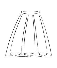 Box Pleats    Deep, parallel pleats of fabric that cascade down the skirt can be very flattering for brides who want to play down their hips and thighs, especially in a heavy fabric such as satin. themarriedapp.com hearted <3