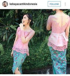 Kebaya Peplum, Kebaya Lace, Kebaya Brokat, Batik Kebaya, Batik Dress, Kimono, Myanmar Traditional Dress, Thai Traditional Dress, Traditional Outfits