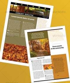 The Autumn Newsletter - Newsletters Print Templates Download here : https://graphicriver.net/item/the-autumn-newsletter/41500?s_rank=604&ref=Al-fatih
