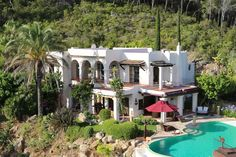 Villa Romeo · San Carlos - https://www.zanibiza.com/listing/villa-romeo-san-carlos/ - This beautiful luxury villa is located on top of a hill near San Carlos and features breathtaking 180 degree views of the beautiful Morna valley country side, the north-east coast and the island of Tagomago, This two story villa has five large bedrooms, able living area, country kitchen and a...- Property for sale in Ibiza - ZAN ibiza real estate