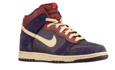 "If you really need sports footwear, pick something like these. (Nike Dunk Hi ""Port Wine"")  #men #style #nike"