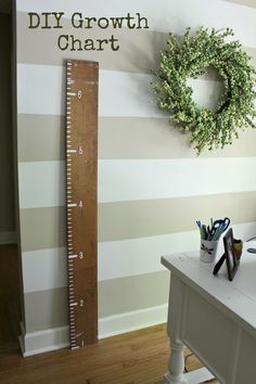 Awesome Ruler/ Growth Chart by Ten June, So cute!