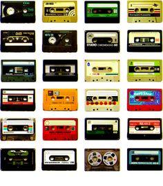 k7, retro, cassette, fita, 80s, vintage, collage