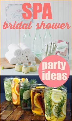 Spa Bridal Shower. Help the bride relax and unwind before the big day with a spa-themed bridal shower! Best way to spend a girls night in with the ladies. Fun party ideas for a tween or sweet 16.