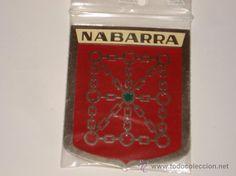 CHAPA DE NABARRA, (NAVARRA), ESCUDO CON LAS CADENAS, DE 5 X 7.IDEAL COCHE , MOTO, DECORACION... - Foto 1
