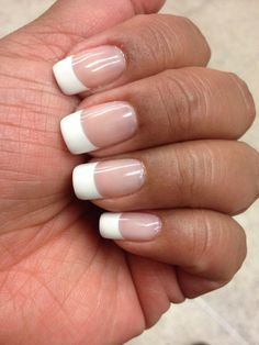 Gel French Manicure on natural nails. Done by Lan. Always flawless ...