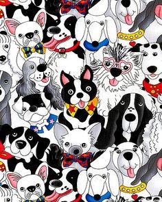 Doggie Super Stars - White