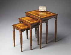 3021101 - WINIFRED OLIVE ASH BURL NEST OF TABLES
