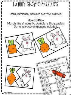Easter Math and Literacy Centers for Preschool, Pre-K, and Kindergarten