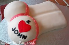 ".Bachelorette Party Cake. ~Womens Butt Cake~ Cakes by Raychel  I made this ""BUTT"" cake for a bachelorette party. They requested a womens but..."