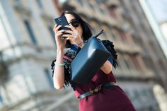 On the Streets of Milan Fashion Week Fall 2014  - Milan Day 4