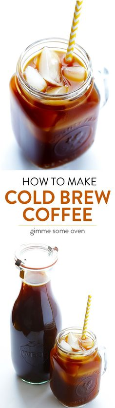 Learn how to make cold brew coffee with this step-by-step tutorial and recipe.  It's so easy!! | gimmesomeoven.com