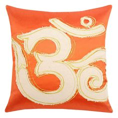 Blissliving Home 'Om' Coral Pillow