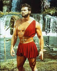 Steve Reeves as Hercules. To me, the most Hercules looking of the actors to play… Steve Reeves, Epic Movie, Cinema, Rare Photos, Physique, Vintage Men, Movie Stars, Actors & Actresses, Celebs