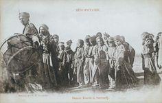 Kurdish Folk Dance in Surudsh, Syria. Picture Postcard (photograph), France, c. 1900!