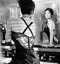Gong Li- that lace back is gorgeous