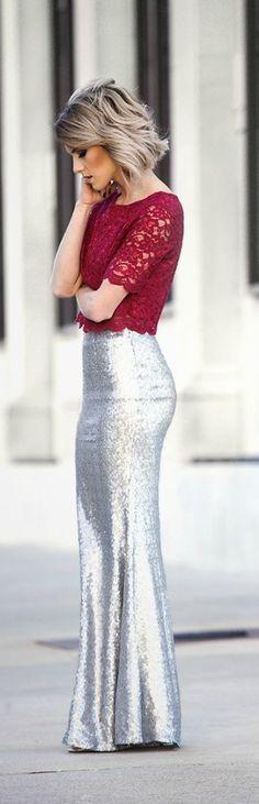 Rojo y plata (falda mas suelta)