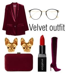 """""""#76 Velvet Outfit"""" by daniela-paulica on Polyvore featuring MANGO, Manolo Blahnik, Frency & Mercury, John Lewis and Smashbox"""