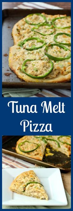 This tuna pizza is reminiscent of the classic tuna salad, but in pizza form. It's a quick recipe that's sure to become a favorite. From @RachelCooksBlog