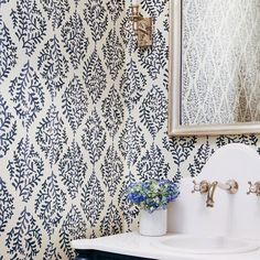 Galbraith and Paul Ivy Paisley Indigo Hand Blocked Wallpaper Waterleaf Interiors