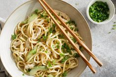Craig Lee for The New York Times Cold Noodles With Sesame Sauce, Chicken And Cucumbers MARK BITTMAN 30 minutes, 4 servings nytimes recipes Chicken Cucumber Recipe, Cucumber Recipes, Pesto Recipe, Sesame Noodles, Asian Noodles, Japanese Noodles, Japanese Food, Cold Noodles, Rice Noodles
