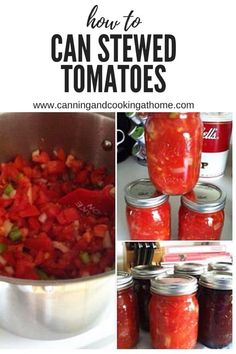 Stewed Tomatoes (Pressure Canned) makes approx 7 pints 4 Quarts Chopped Roma Tomatoes cups) Cup Chopped Onion Cup Chopped Green Pepper 4 tsp celery salt 4 tsp sugar tsp salt Canning Pressure Cooker, Pressure Cooker Chicken, Pressure Cooker Recipes, Roma Tomato Recipes, Canning Stewed Tomatoes, Canning Recipes, Canning 101, Dehydrator Recipes, Cook At Home