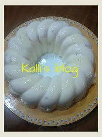 Kalli's blog: Εξωτική δροσιά!!! Greek Desserts, Frozen Desserts, Greek Recipes, No Bake Desserts, Easy Desserts, Jello Recipes, Pudding Recipes, Dessert Recipes, Recipies