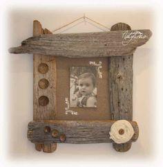 Cadre multi photos en bois flott de m diterran e multi - Cadre en bois flotte decoration ...