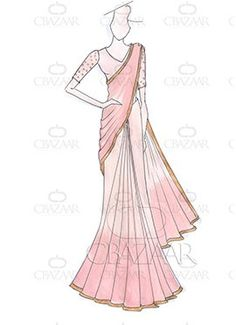 DIY Dilwale Inspired Peach Georgette Saree