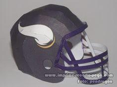 NFL Helmets: Vikings & Jaguars Papercraft - DePapercraftBlog