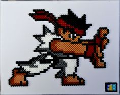 "Street Figther ""Ryu"" hama beads by FrikiBeads"