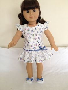 American Girl Doll Clothes Handmade Flutter Sleeve by LeslieNLaura