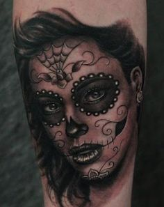 DIA De Las Muertas Pin Up Girl | Day of the dead | Inking the world one tattoo at a time