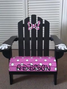 Children's Handpainted Made to Order Adirondack by IHeartUKids OMG! Sooo many cute chairs