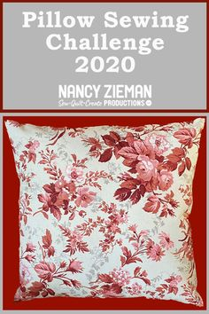 The annual Pillow Sewing Challenge hosted by Nancy Zieman Productions starts now! We are proud sponsors of this year's Pillow Sewing Challenge. You can join in on the fun by making a pillow t… Education Journals, Art Education, Sewing With Nancy, Nancy Zieman, Flower Quilts, Log Cabin Quilts, Landscape Quilts, Collaborative Art, Flying Geese