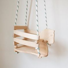 Love this wooden horse swing!