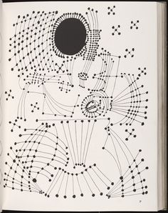 Picasso's Constellations, Ink Drawing 1924.
