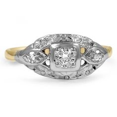14K Yellow Gold The Asis Ring from Brilliant Earth
