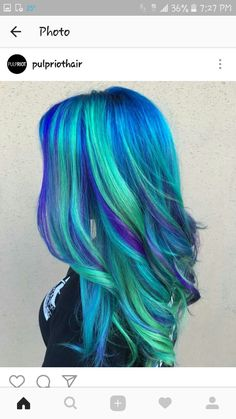 blue hair Hair DIY: Five Ideas for Blu - haar Diy Hairstyles, Pretty Hairstyles, Hairstyle Ideas, Wedding Hairstyle, Latest Hairstyles, Haircuts, Pelo Multicolor, Pretty Hair Color, Unique Hair Color