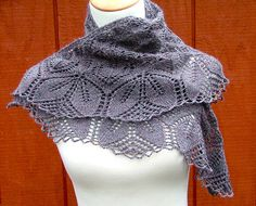 Livre fácil padrão de xale de tricô