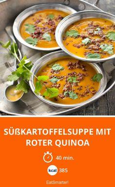 Süßkartoffelsuppe mit roter Quinoa - smarter - Kalorien: 385 Kcal - Zeit: 40 Min. | eatsmarter.de