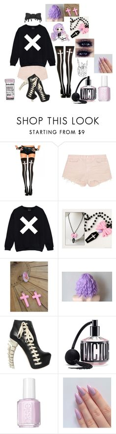 """""""☠ Pastel goth ☠"""" by cherryblossompastel ❤ liked on Polyvore featuring мода, J Brand, Dsquared2, Victoria's Secret и Essie"""